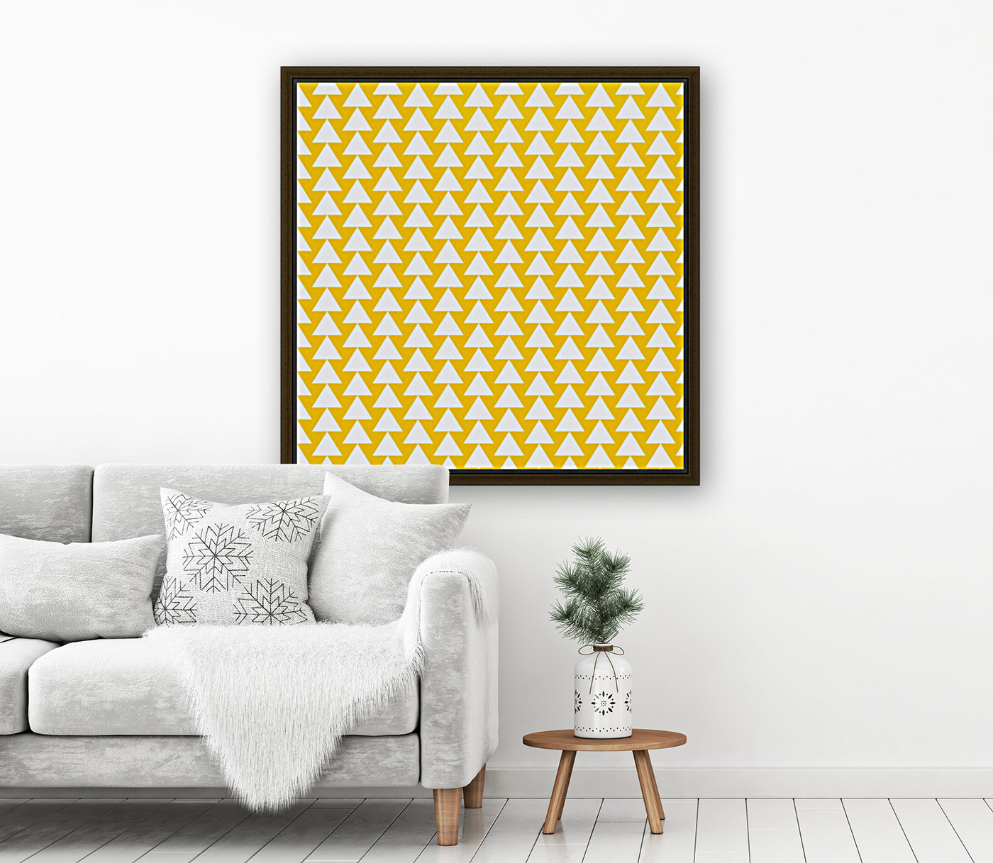Yellow  White triangle  Art