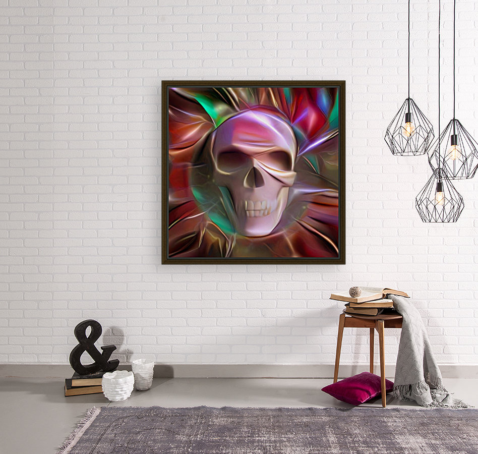 Glowing Skull with Floating Frame