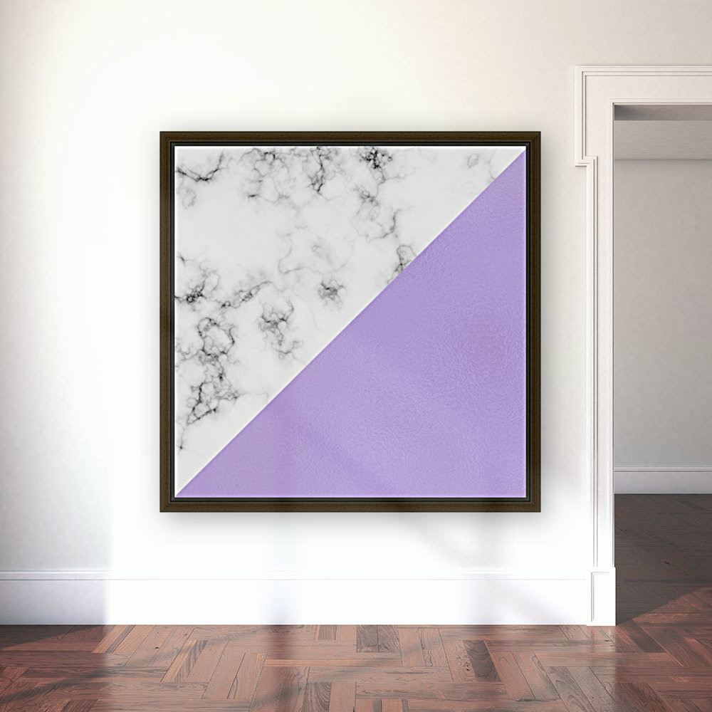 ABSTRACT MODERN PURPLE GLASS MARBLE  Art