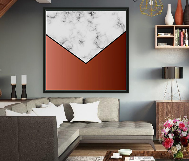 ABSTRACT BRICK MODERN MARBLE  Art