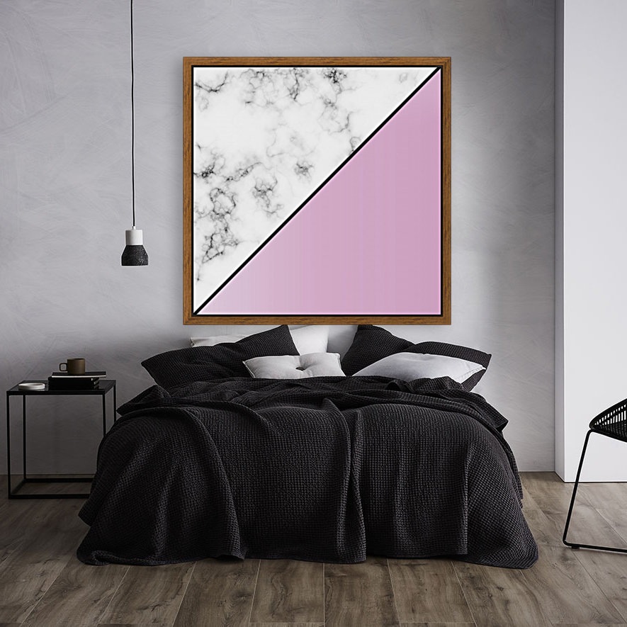 ABSTRACT MODERN PINKY MARBLE  Art