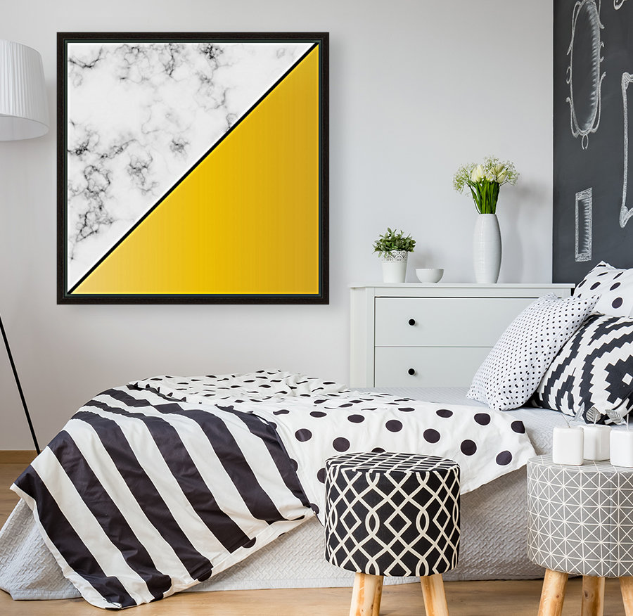 ABSTRACT MODERN YELLOW MARBLE  Art