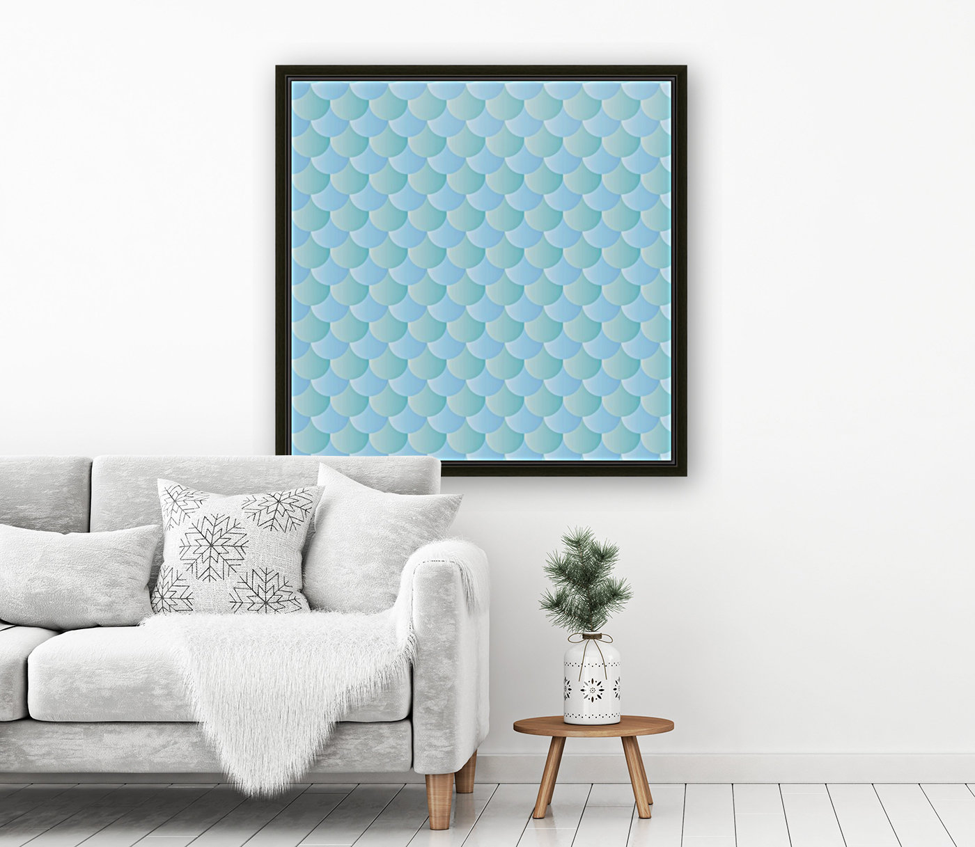GREEN PASTEL MERMAID PATTERN  Art