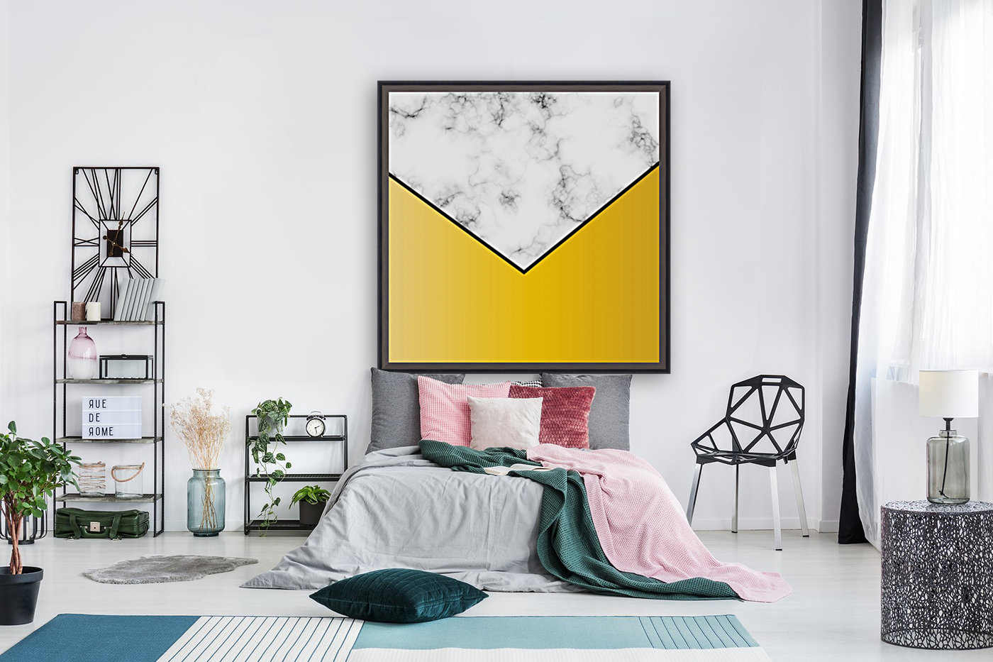 ABSTRACT YELLOW PASTEL MODERN MARBLE  Art