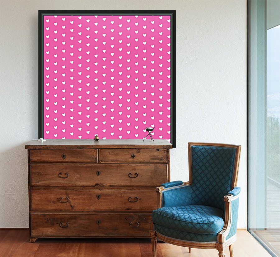 Magenta Heart Shape Pattern  Art