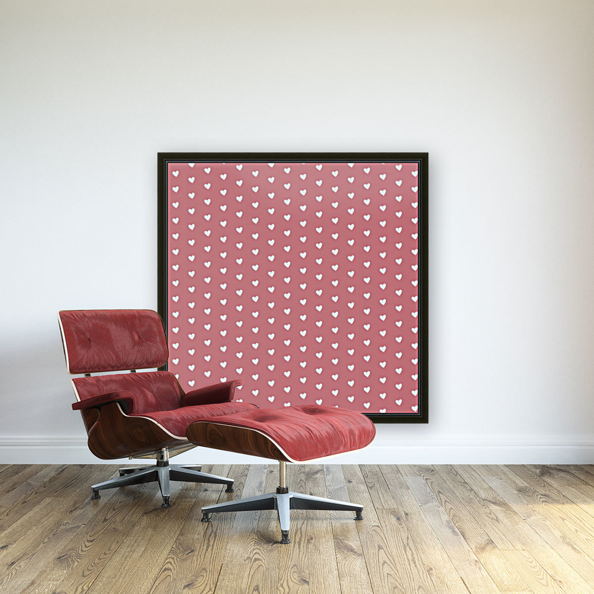 Light Red Heart Shape Pattern  Art