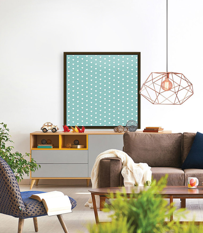 Play Green Heart Shape Pattern with Floating Frame