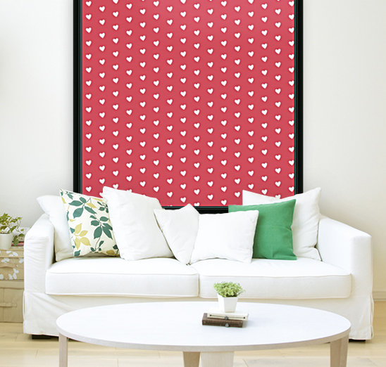 Royal Red Heart Shape Pattern  Art