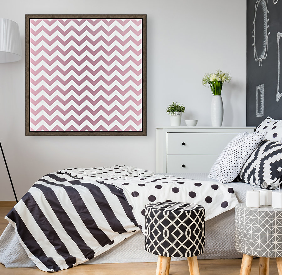 PINKY SHADE CHEVRON  Art