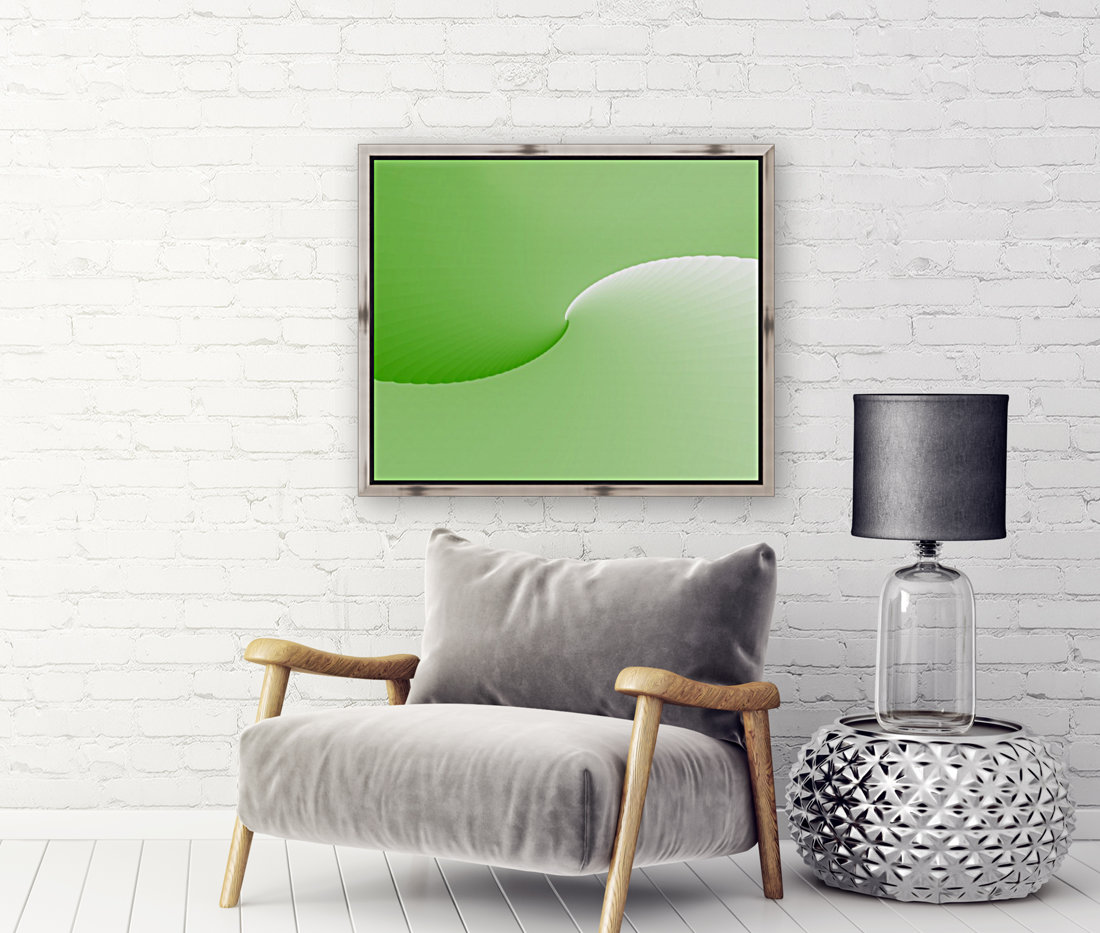 GREEN ABSTRACT  ORIGINAL with Floating Frame