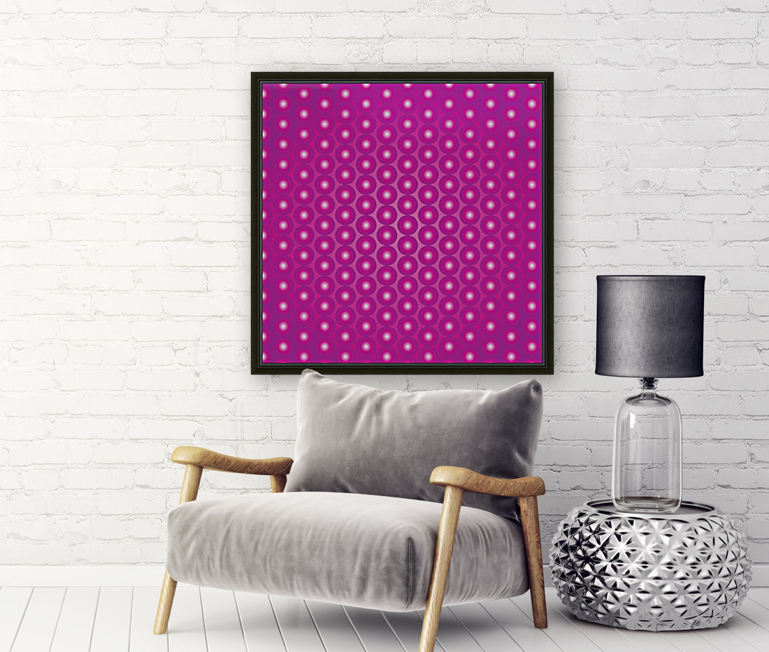 Magenta Pearl Pattern with Floating Frame