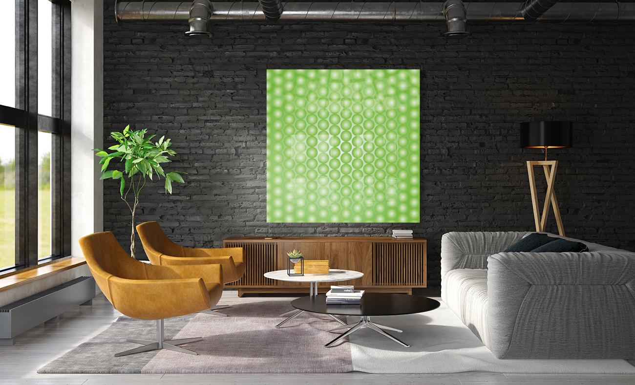 Yellow Green Pearl Pattern  Art