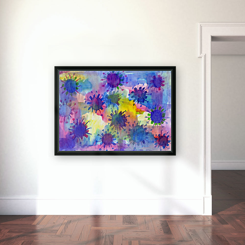 Watercolor blots  Art