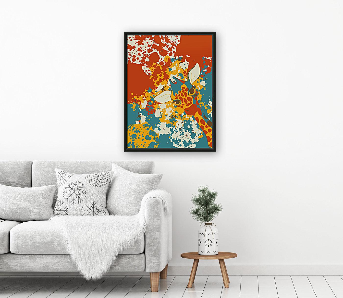 Cute Giraffe Abstract  Art