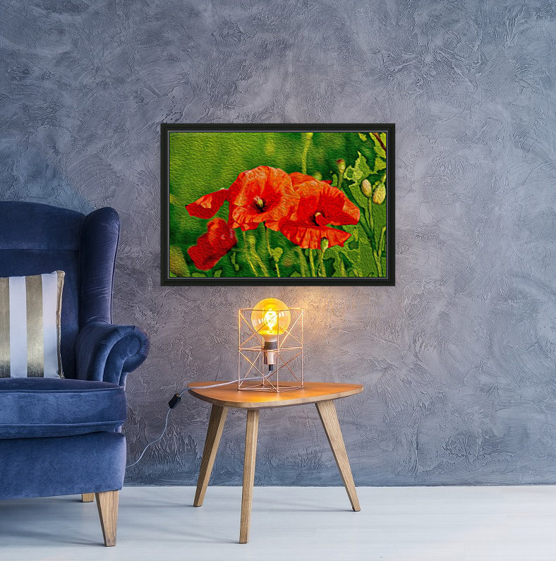 Red Poppies  Art