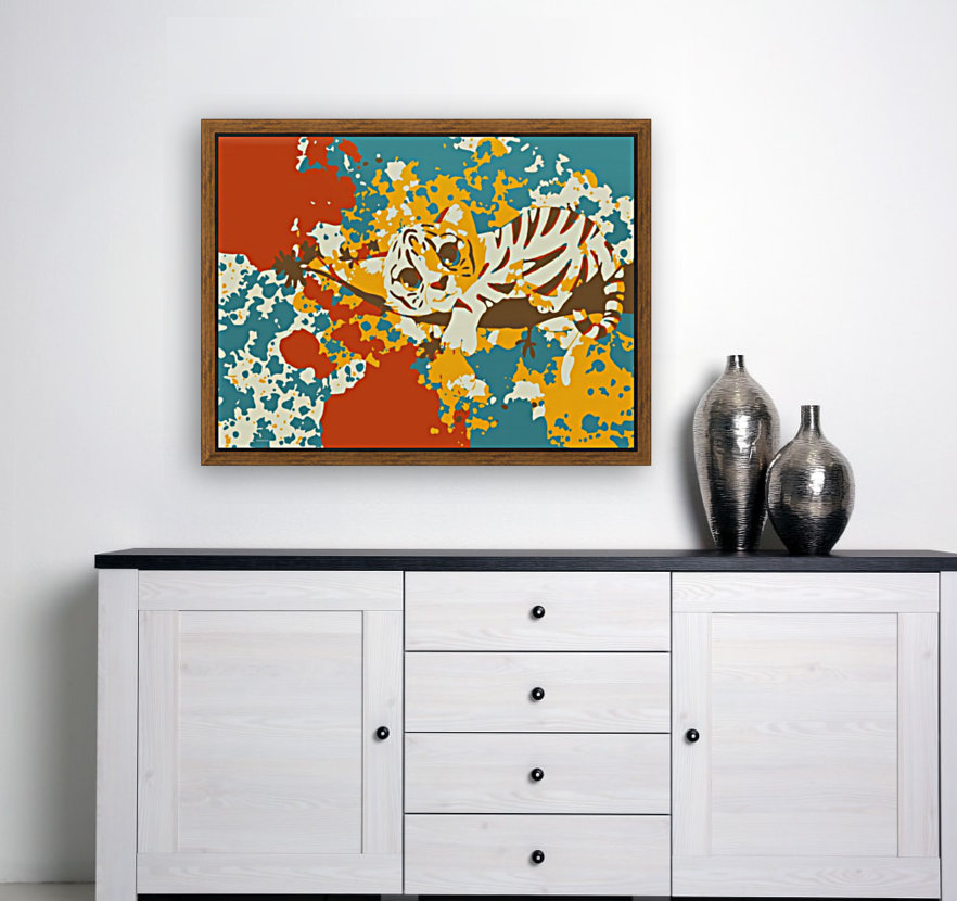 Little Tiger Abstract   Art