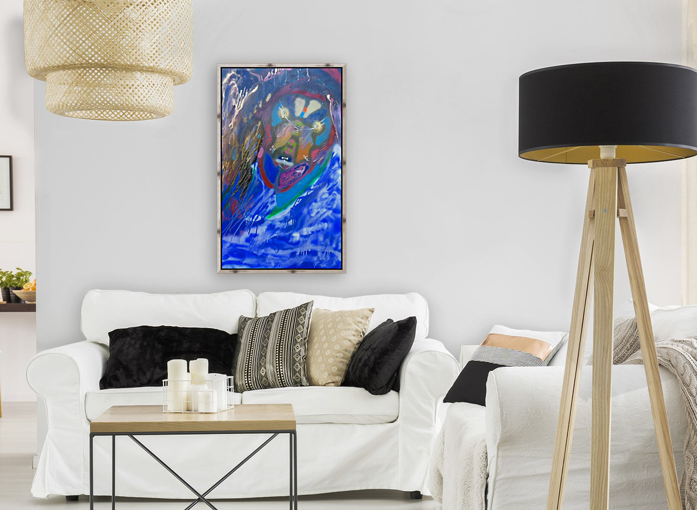 BLUE KING   with Floating Frame