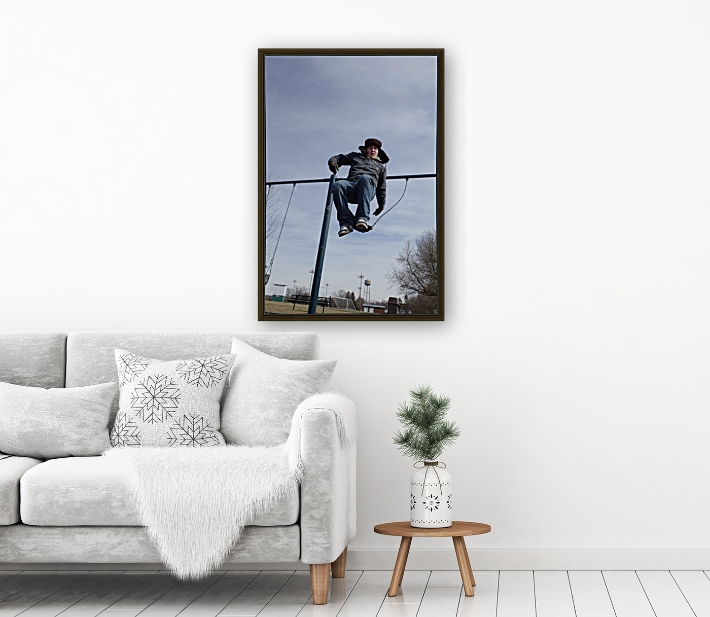 Free Fall with Floating Frame