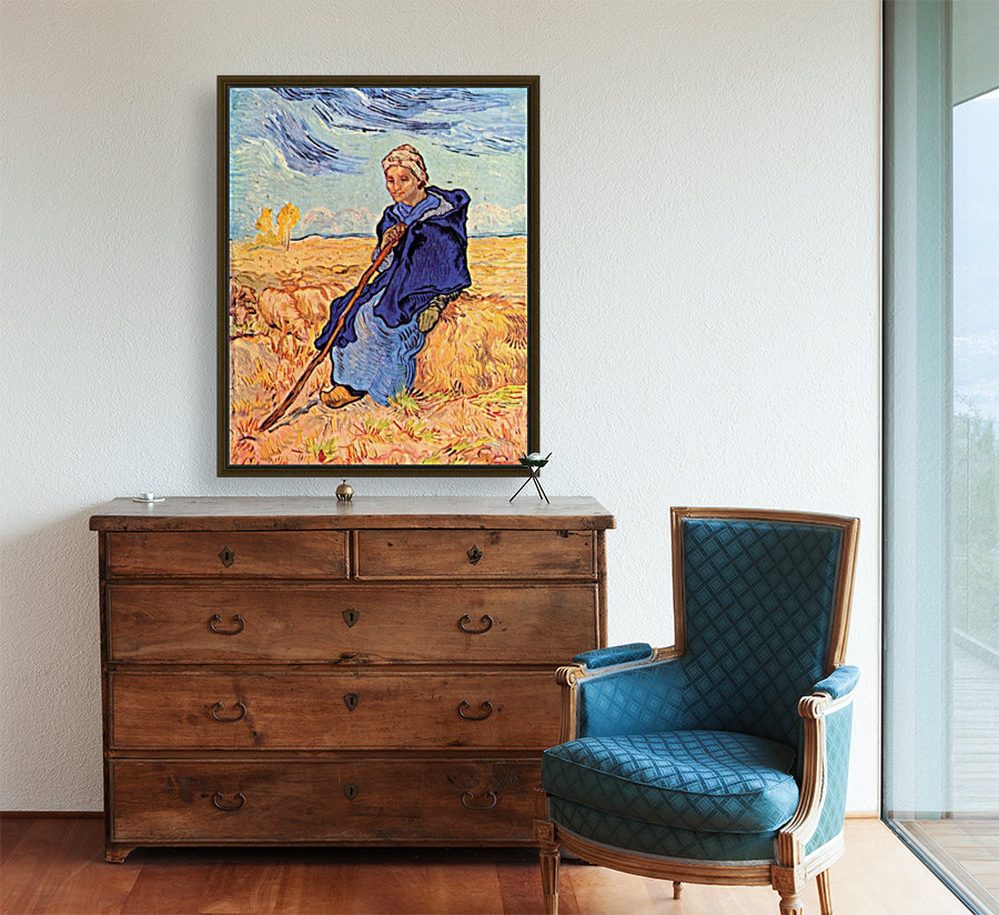 The shepherdess by Van Gogh with Floating Frame