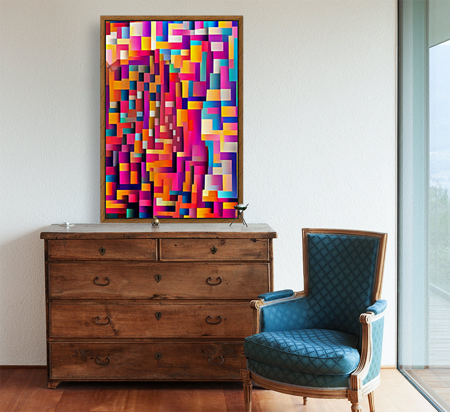 Geometric Abstract Painting  Art