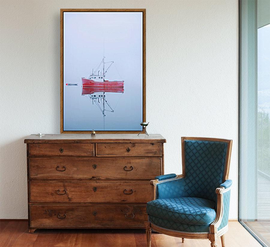 New Brunswick - fishing boat reflected in water  Art