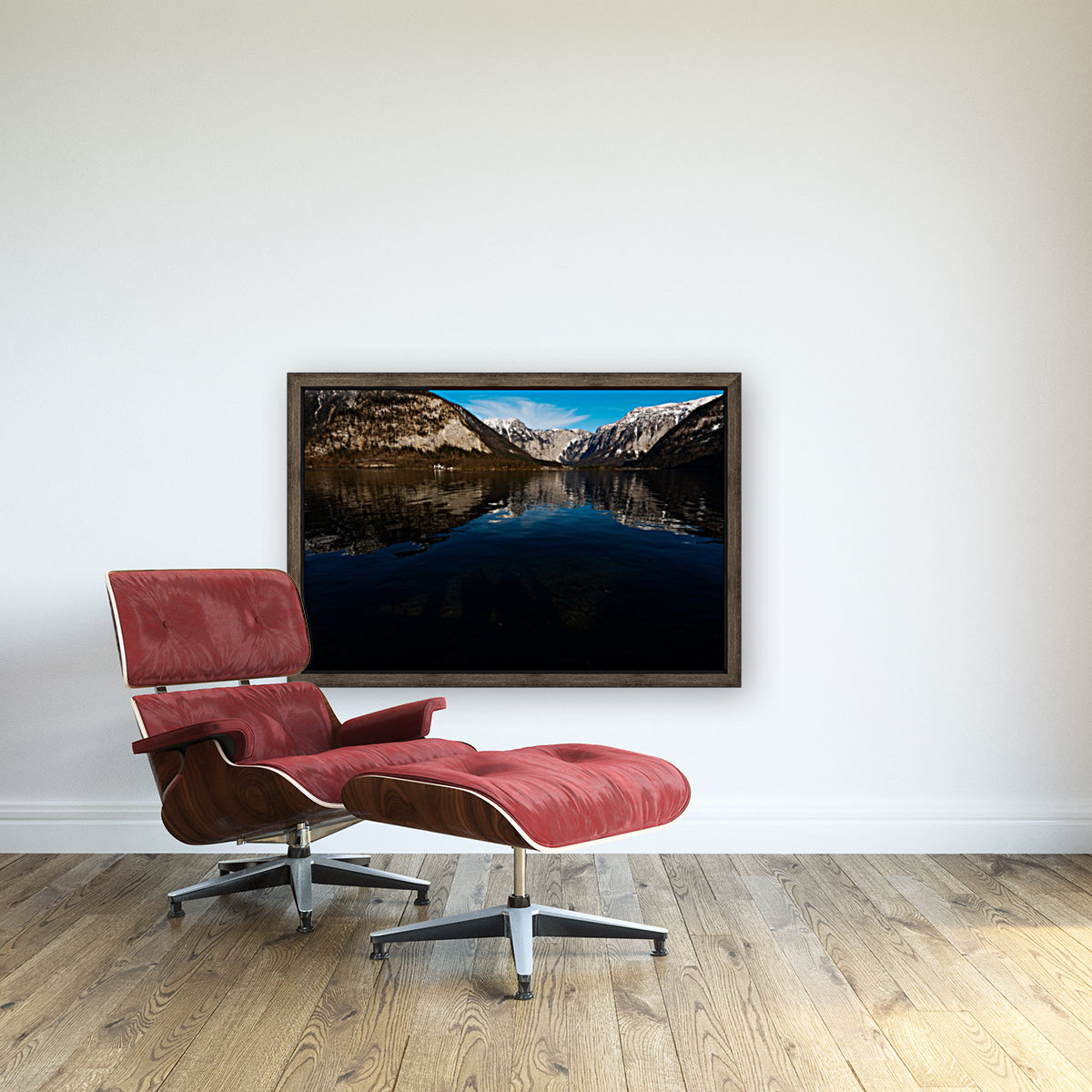 Beautiful Blue with Floating Frame