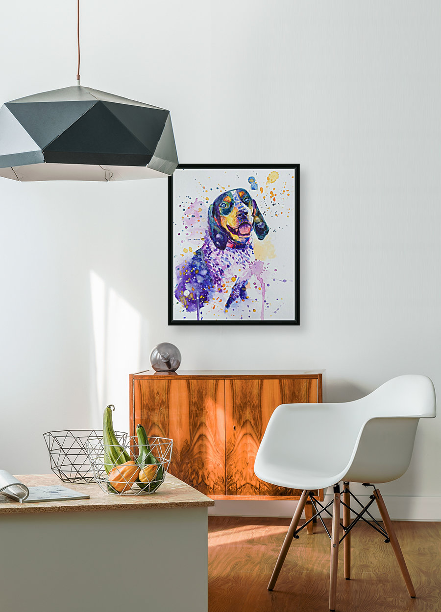 Beagle Dog - Lily Belle with Floating Frame