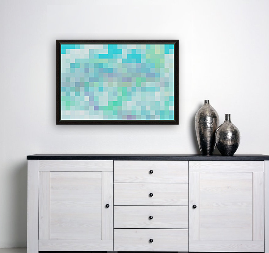Abstract Pixel Picture -Ocean shades   Art