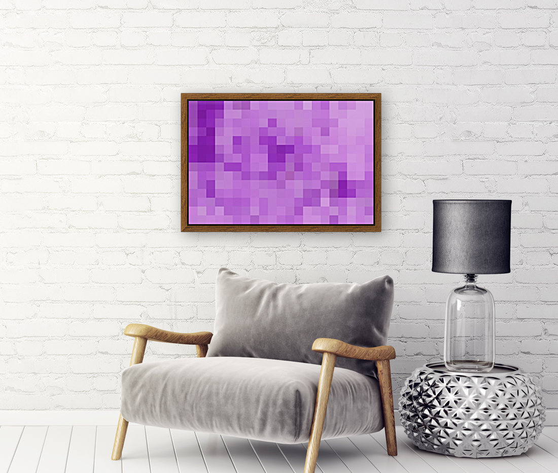 Abstract Pixel Art - Purple Shades  Art