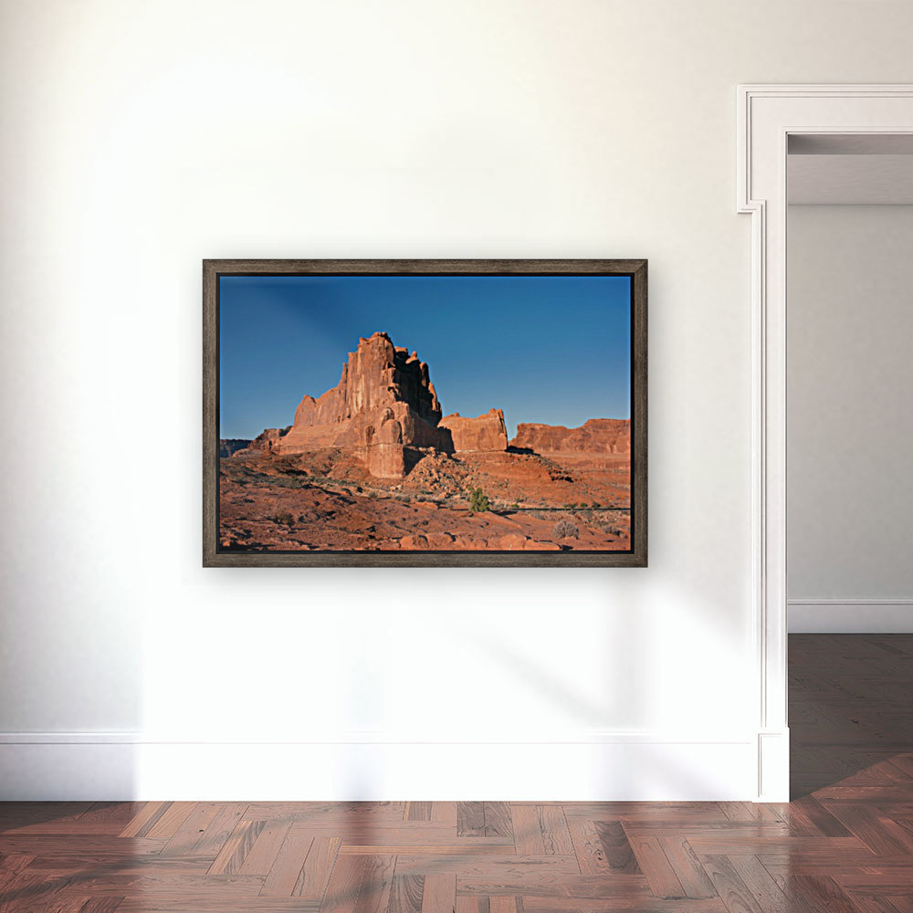 Desert Scape with Floating Frame