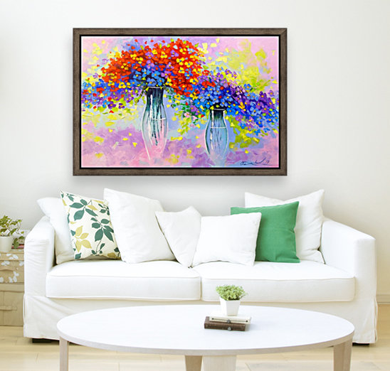Music of multi-colored flowers  Art