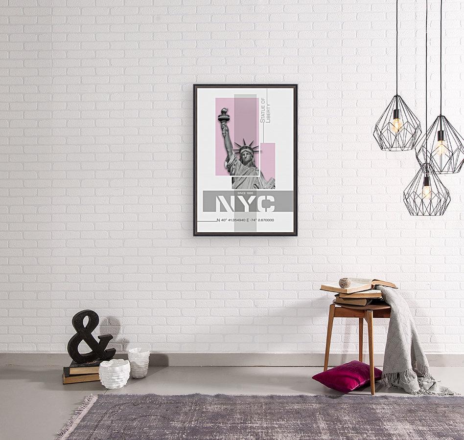 Poster Art NYC Statue of Liberty | light pink  Art