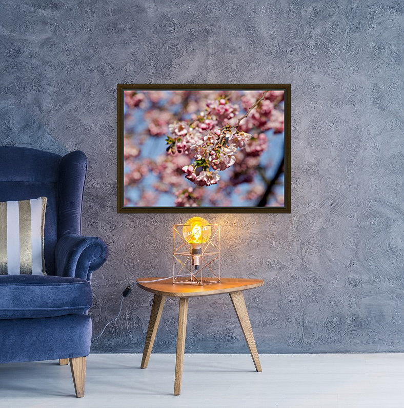 Cherry blossom Red with Floating Frame