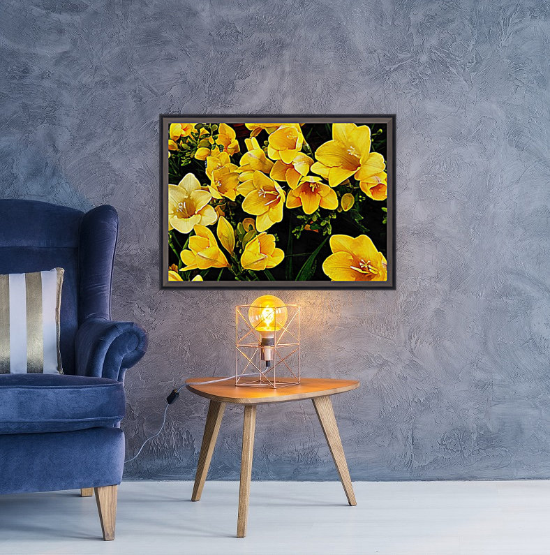 Yellow Freesias  Art