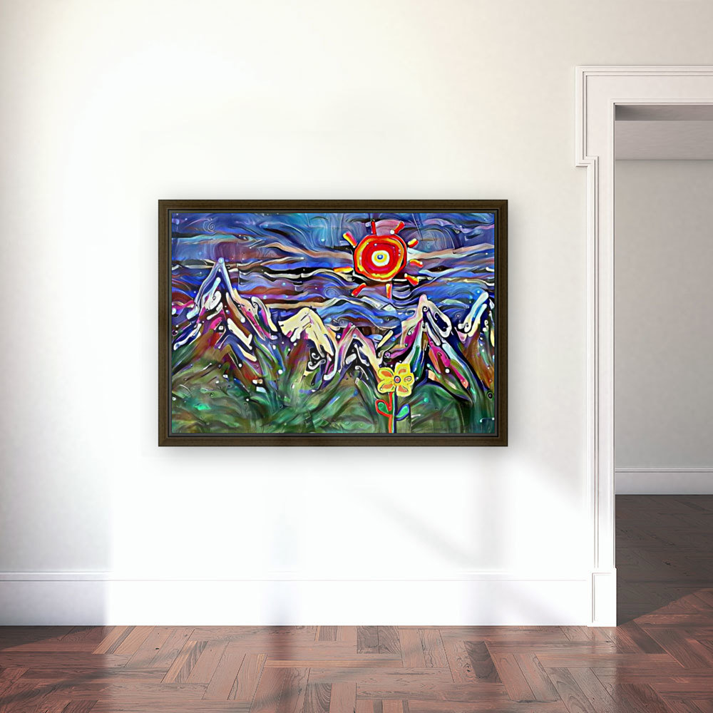 Mountain Landscape with Flowers  Art