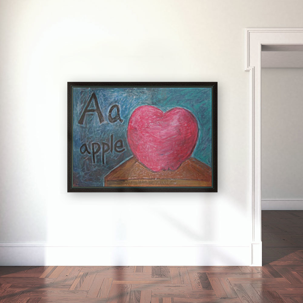 A is for Apple  Art