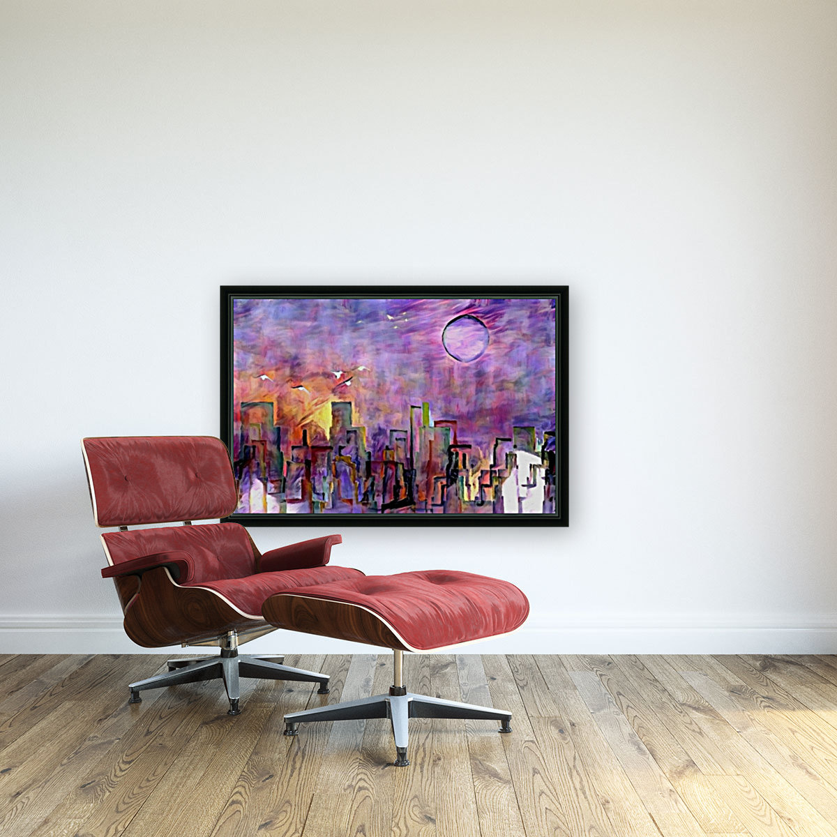 Night City Colors with Floating Frame
