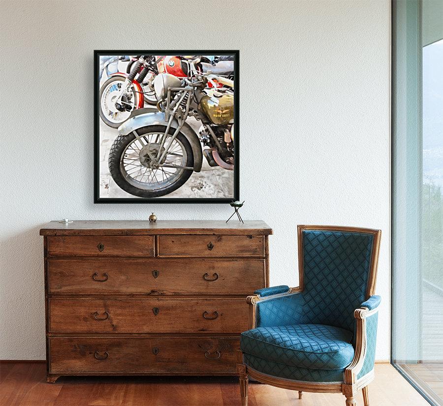 Moto Guzzi and BMW Front Wheels  Art