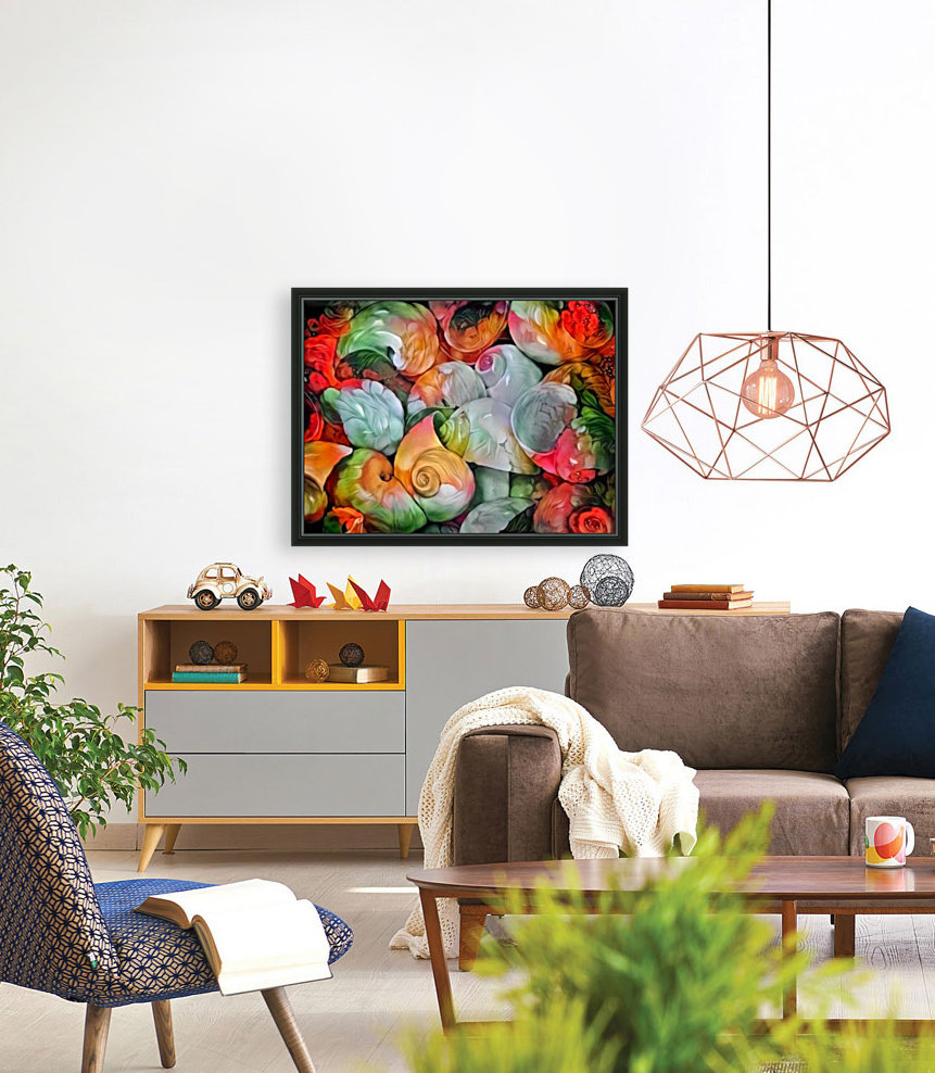 Seashell Colorful Pattern with Floating Frame