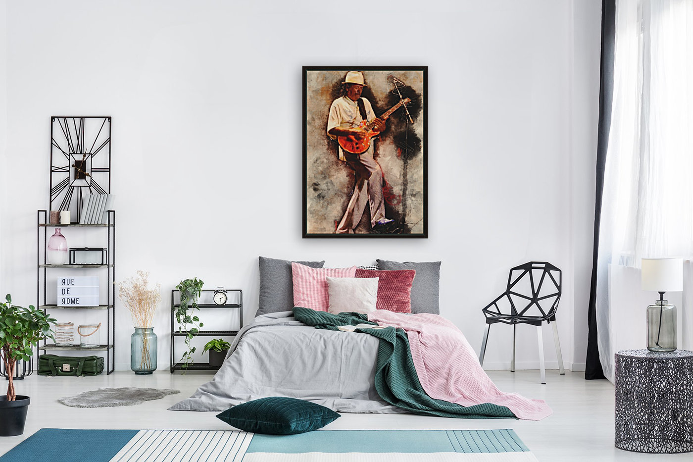 Carlos Santana with Floating Frame