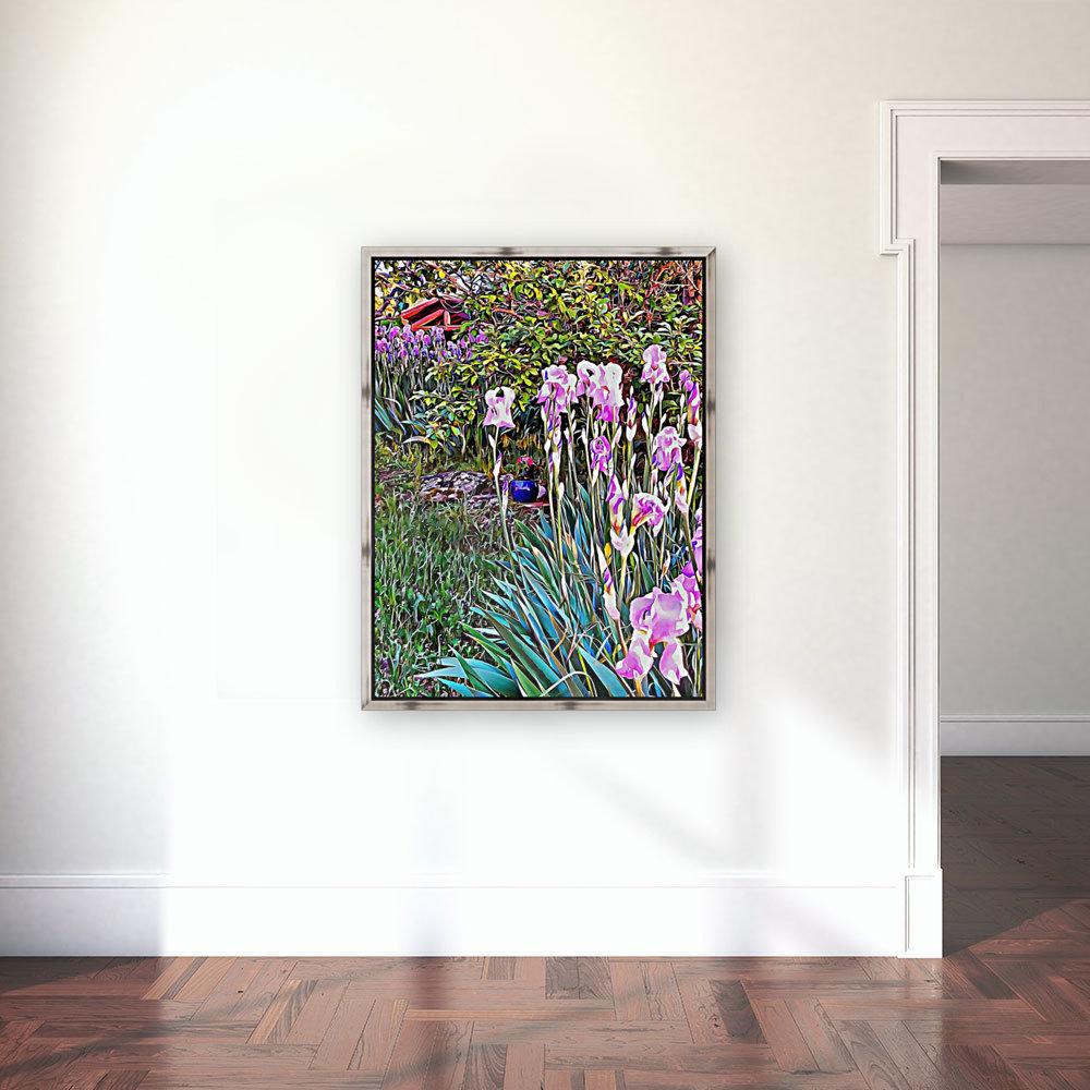 My Secret Iris Garden  Art