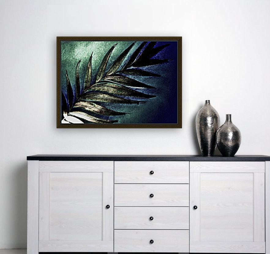 PEARL GLITTER EFFECT LEAVES TROPICAL DESIGN  Art