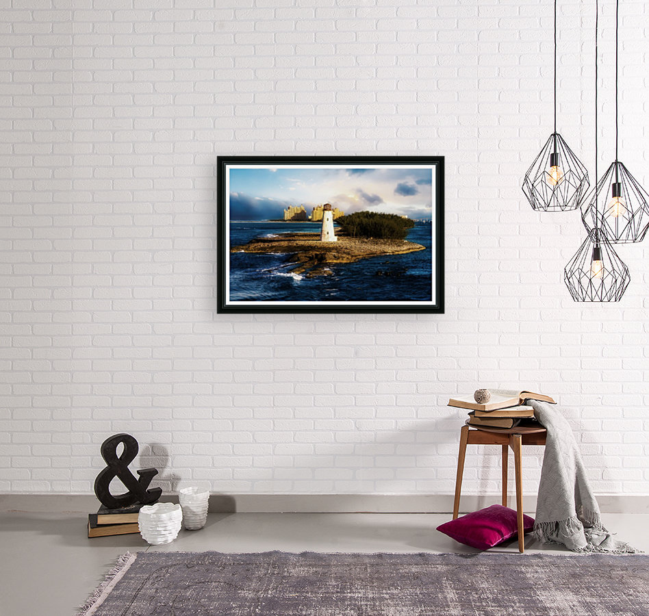 Bahamas Lighthouse with Resort Soft with Floating Frame