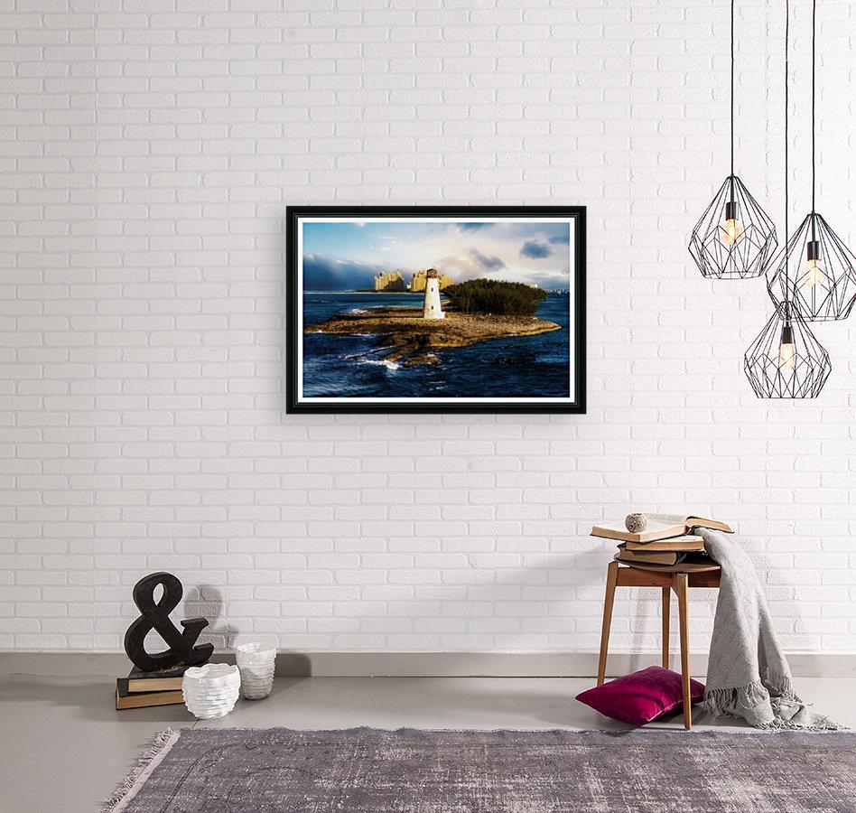 Bahamas Lighthouse with Resort Soft  Art