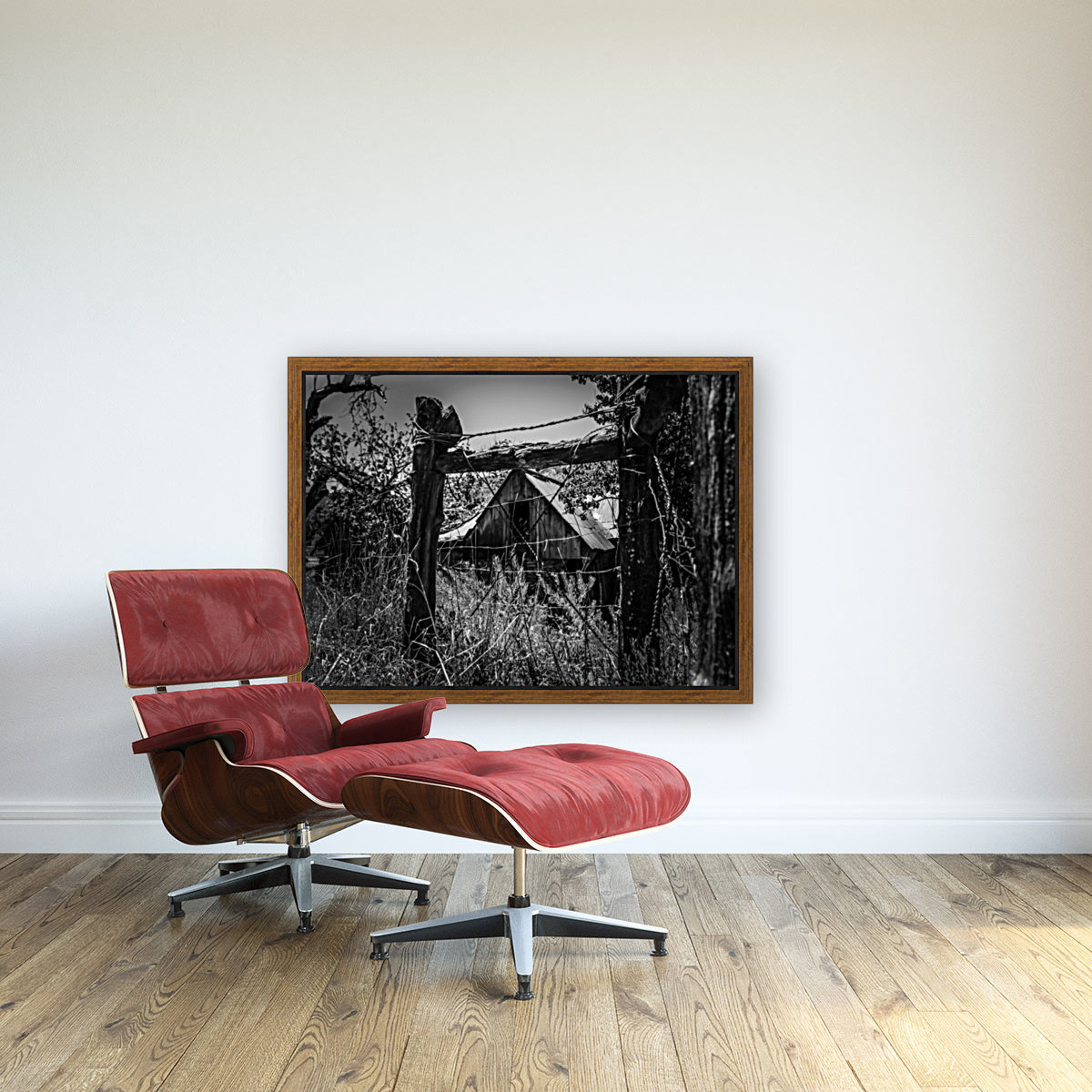 Abandoned Black and White  Art
