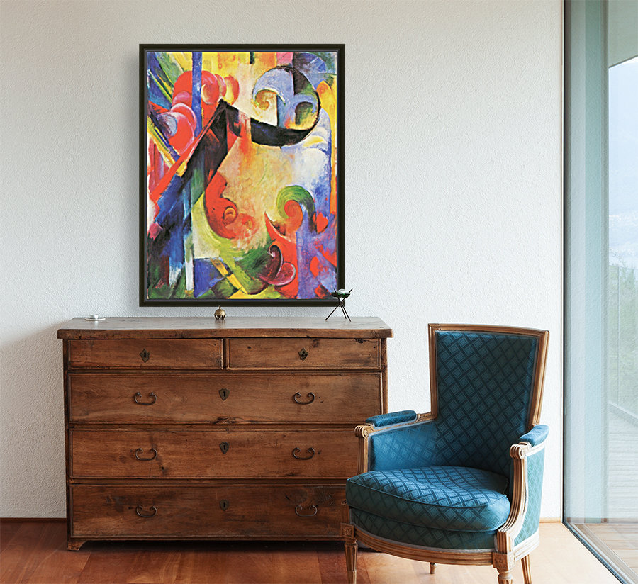 Broken Forms by Franz Marc with Floating Frame