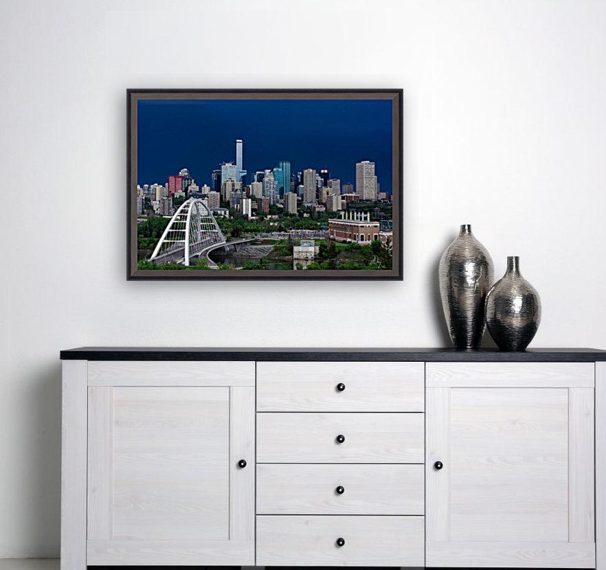 Edmonton Skyline & Thunderstorm...  Art