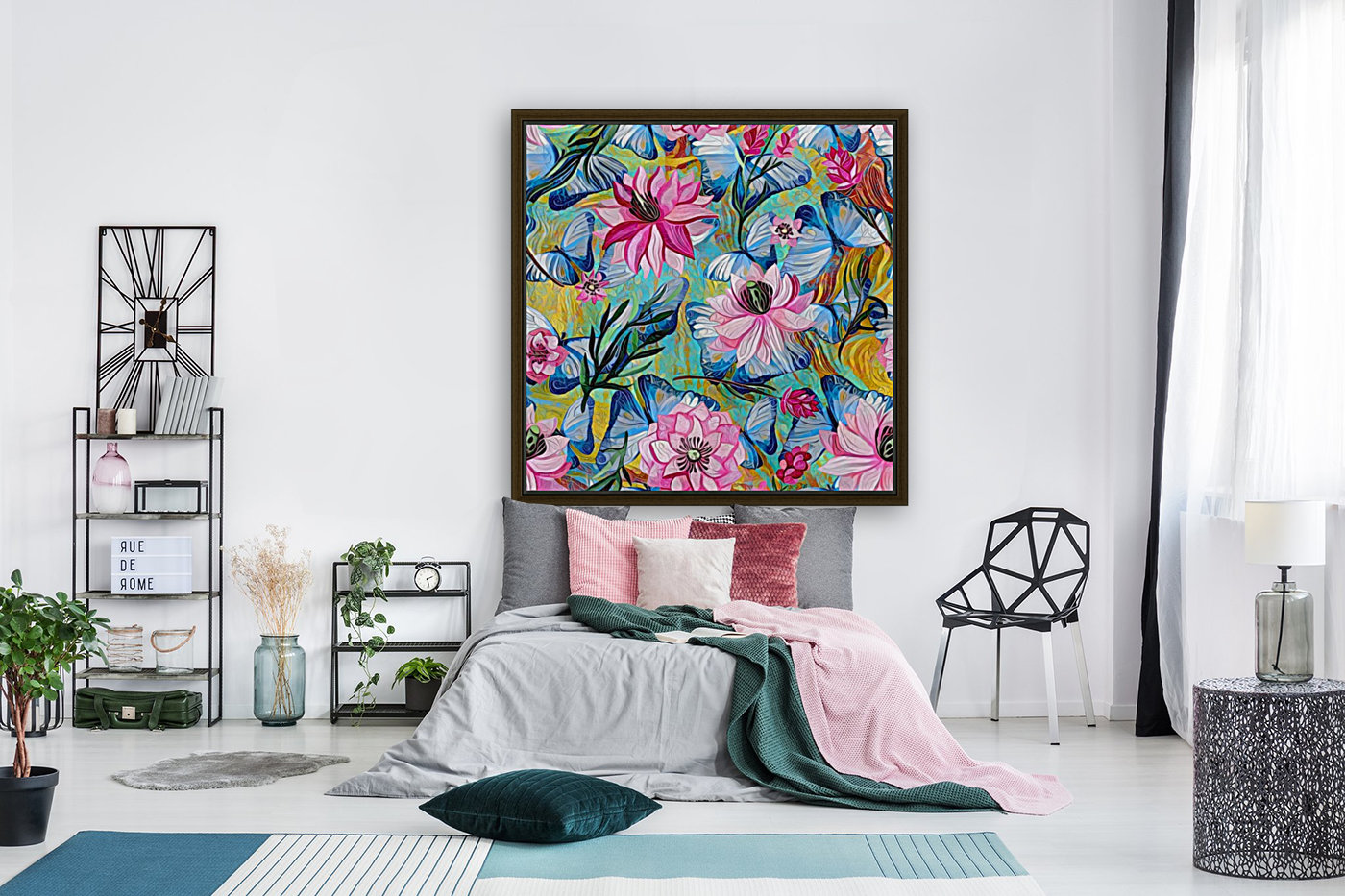 Colorful Floral Abstract   Art