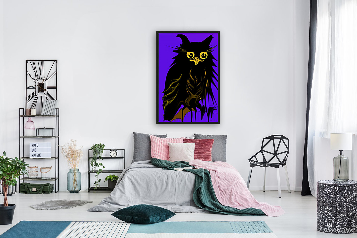 owl with Floating Frame