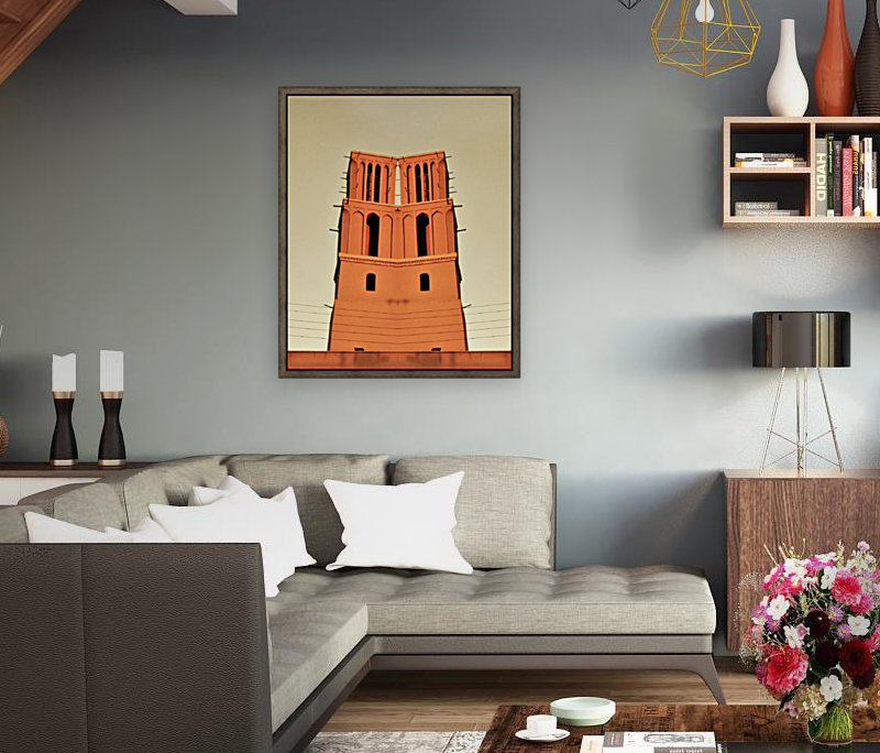 Happy Tower with Floating Frame
